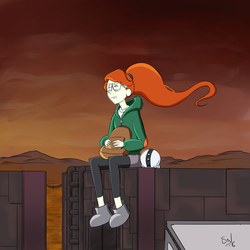 Waiting for that Infinity Train by OldNorthridge