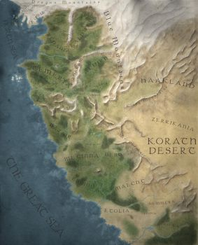 The Witcher World Map - Easy Reading version by DwarfChieftain