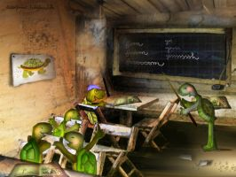 Turtles' school by altergromit