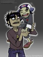 Murdoc and Noodle by iricolor
