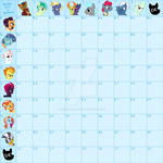 Canon characters breeding grid - open - 81/81 by Brownie-Adopts