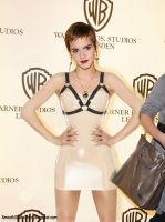 Emma Watson In Latex Micro-dress by Andylatex