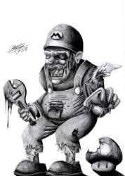 Zombie Super Mario by KorD12