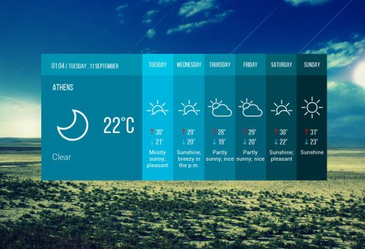 Flat Weather for xwidget by Jimking