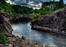 Ominous River Path by jvrichardson