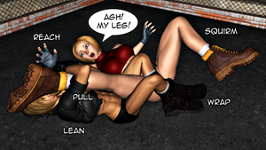 Alacrity VS Blue Mary: Rolling Kneebar 1 by FatalHolds