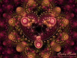 Paisley Hearts Wallpaper by Sya