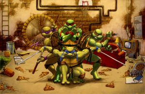 Teenage Mutant Ninja Turtles by iangoudelock