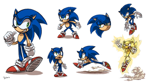 Sonic Sketch Sheet by Heilos