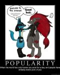 Popularity Demotivator by novaburst16