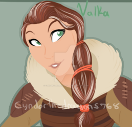Valka doodle by Cynderthedragon5768