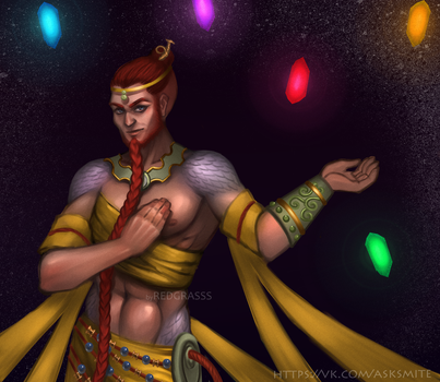 nuwa smite male by RedGrasss
