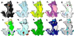 Free Adopts 1-10 0/10 closed by sweetsncake