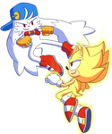Commission Lux Klonoa vs Super Sonic by Domestic-hedgehog
