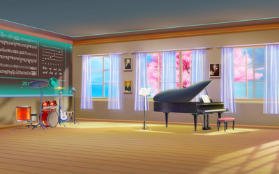 [MMD DL]Music classroom stage by UnluckyCandyFox