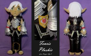 Fenris Plushie by trixuqueen