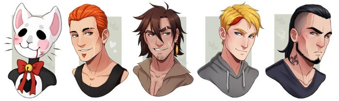 [Gifts] Ferro, Theola, Morgan, Tewer and Hayden by NoahAsai