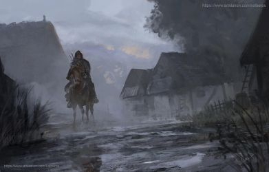 Geralt in the Beskidy mountains 3 by Kalberoos