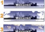 new banners for mazaziko.com by ohmto