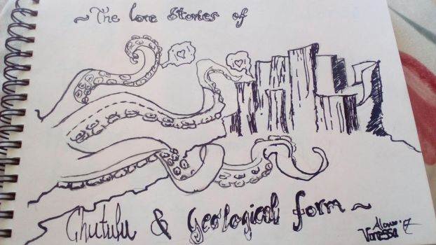 love stories of chuthulu and the rock form by Nefertaery2007