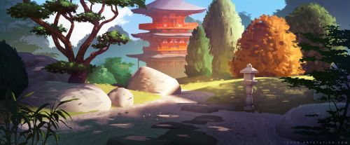 The Temple Path by Tohad