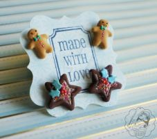 Yummy Studs Set by colourful-blossom