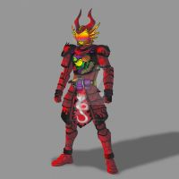 COMMISSION: Kamen Rider Ryugen Ryuujin Arms by RamenDriver