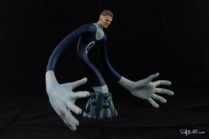 [Garage kit painting #17] Mr. Fantastic bust - 008 by DasArt