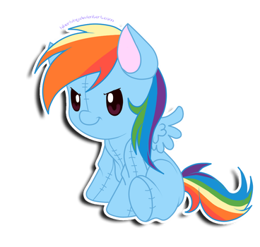 Dashie plushie by hikariviny