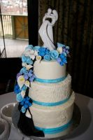 Bouquet Wedding cake by see-through-silence