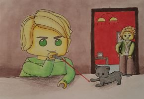 Luh-Lloyd and baby meowthra by graphicgirl12345