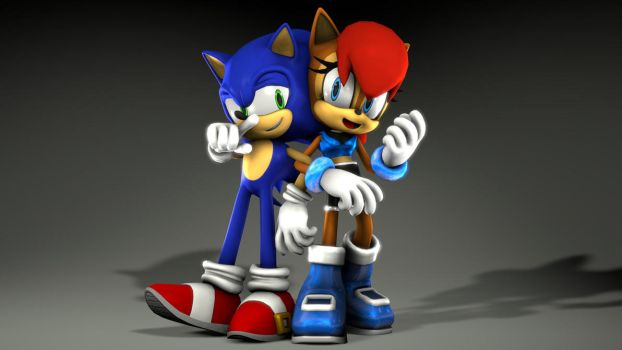 Sonic And Sally Pose 01 by sonic3245