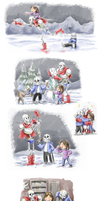 Undertale - A Day in Happy Skeleton Land by the-Adventurer-0815