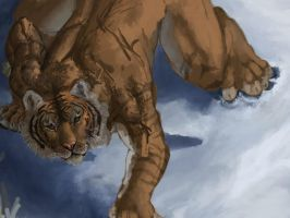 Tiger snow W.I.P. by Crisjofreart