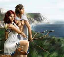 Artemis and Apollo by FedeSchroe