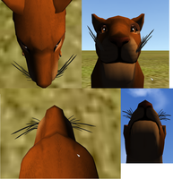 FeralHeart Feline Whiskers mesh COMPLETE! by Unleashed89