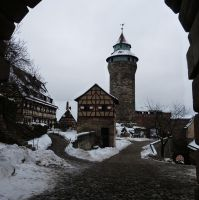 Snow on the Sinwell tower by andersvolker