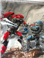 Elite vs. Spartan from Halo Reach by Victoria-Creed