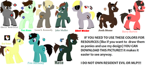 MLP Resident Evil: Male Charaters Ponified by Ravenslpash26