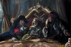 Barbossa and Jack by DreamyNatalie