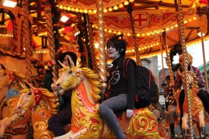 Karkat does the Merry-go-round by Bekumura