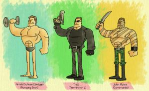 The Schwarzenegger Three by tyrannus