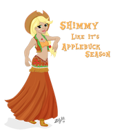 Equestrian Dancer: AppleJack by ZellyKat