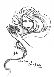 Inktober day 14 - Pisces by Kaizoku-hime