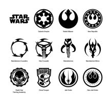 Star Wars vector emblems by cartonus