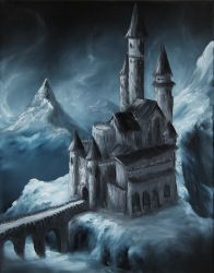 Snowy Mountain Fortress by crazycolleeny