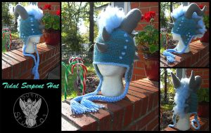 Commission: Tidal Serpent Hat by TheCrochetDragon