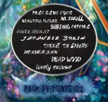 Pack fonts 01 by Redxibsul