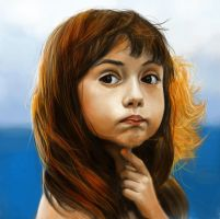 Portrait of a little girl study by Nelsonito