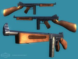 Thompson SMG Low Poly by tanka2d